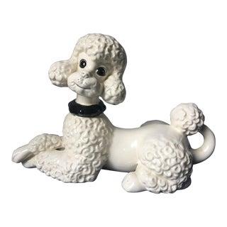 1960s Vintage Dog Poodle Porcelain Figure