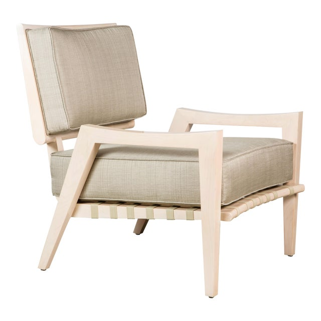 Paul Marra Low Lounge Chair in Bleached Maple For Sale