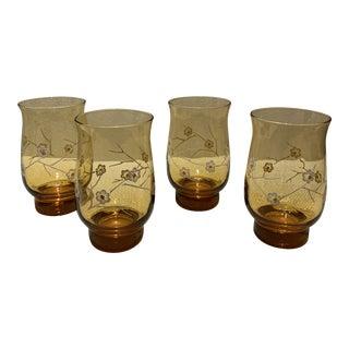 Cherry Blossom Glasses - Set of 4 For Sale