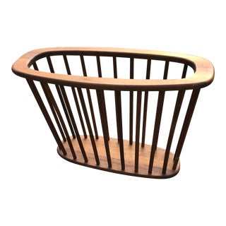1960s Mid-Century Modern Arthur Umanoff Wood Spoke Magazine Holder For Sale