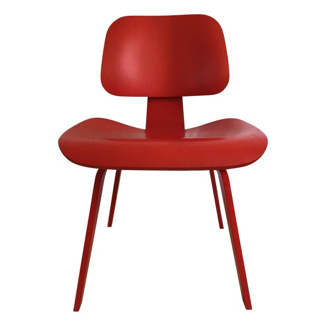 Eames DCW From Herman Miller Red Dining Chair For Sale