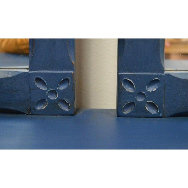 Mirrored 8-Drawer Navy Blue Dresser - Image 7 of 11