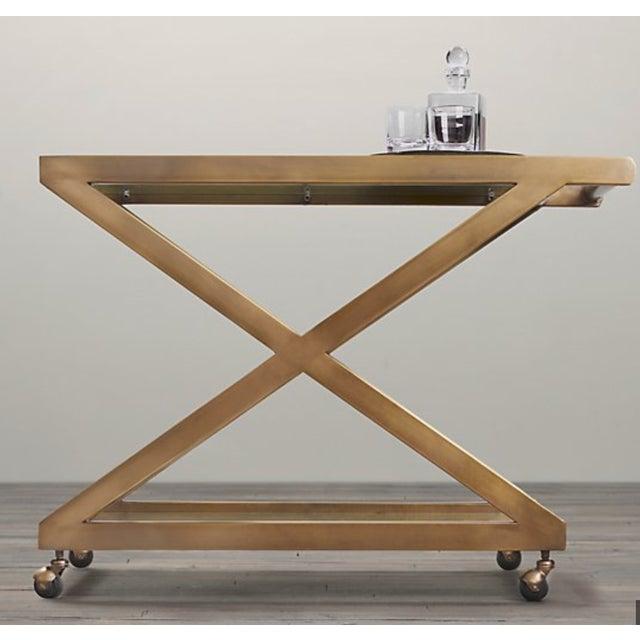 Restoration Hardware Milo Bar Cart For Sale - Image 9 of 11