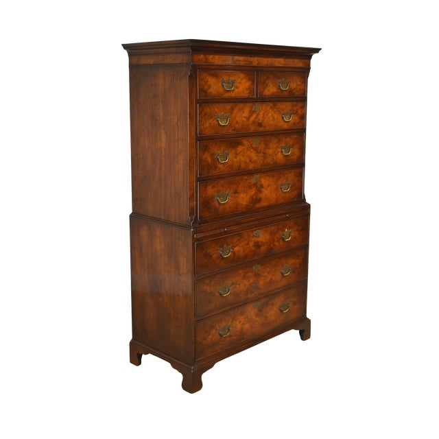 detailing 2cca8 86dad Old Colony Chippendale Style Vintage 1940's Mahogany Chest on Chest