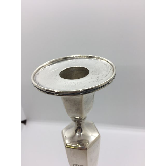Tiffany & Co. Classic Six Sided Sterling Silver Candlesticks - Set of 4 For Sale - Image 6 of 11