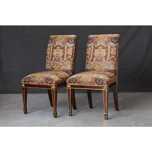 Set of 6 Regency Dining Chairs With Gild Elements For Sale - Image 11 of 13
