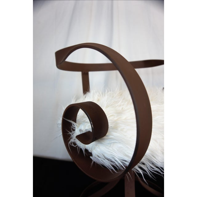 Sultana Style Metal & Faux Fur Chairs - A Pair For Sale - Image 9 of 10