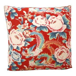 Chinese Birds & Flowers Pillow