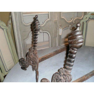 Antique Italian Iron Andrions - a Pair Preview
