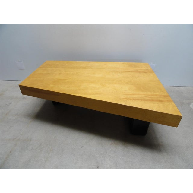 Rare Barzilay Trapezoid Cocktail Table in Birch For Sale - Image 4 of 10