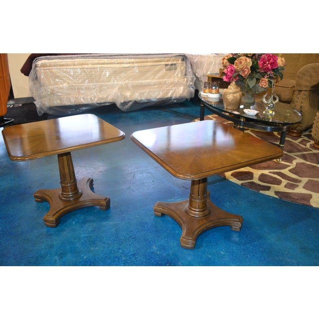 Henredon Neoclassical Side Tables - Pair - Image 2 of 3