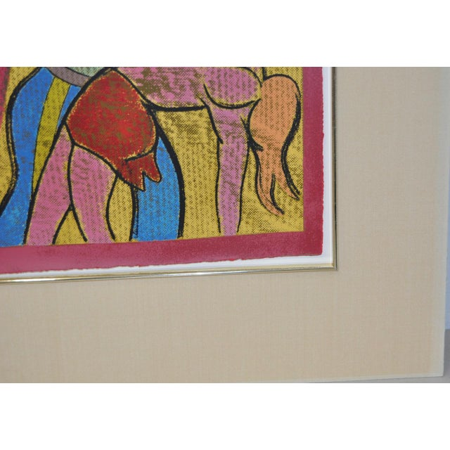 """Yellow 1983 """"New York Performing Arts Center"""" Pencil Signed Lithograph by R.B. Kitaj For Sale - Image 8 of 8"""