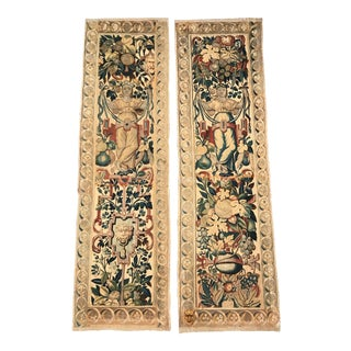 Pair of 18th Century Flemish Portiere Tapestries With Mythological Figures For Sale