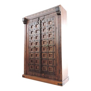 Vintage Wood Door Armoire