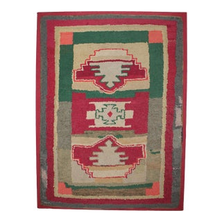 Large Early 20thc Mounted Rug For Sale