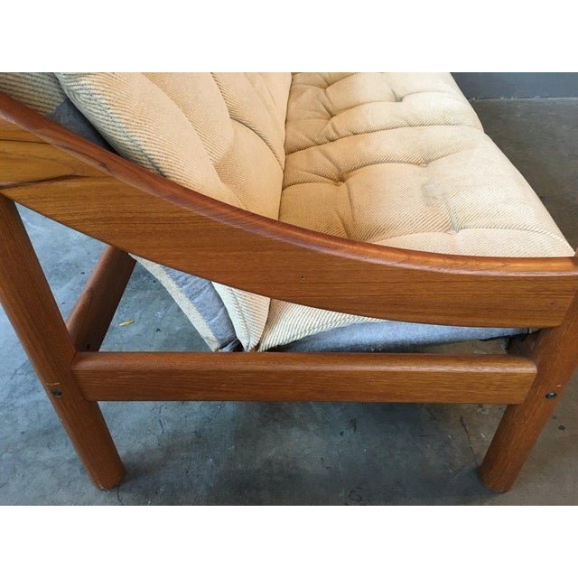 Domino Mobler Danish Modern Teak Sofa For Sale In New York - Image 6 of 9