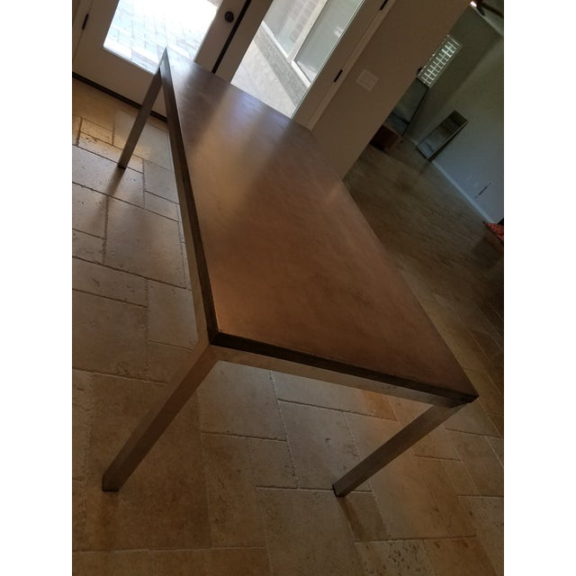 Contemporary Modern Industrial Concrete Dining Table For Sale - Image 3 of 8