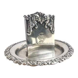 1910s Edwardian Tiffany and Co Sterling Silver Match Holder For Sale