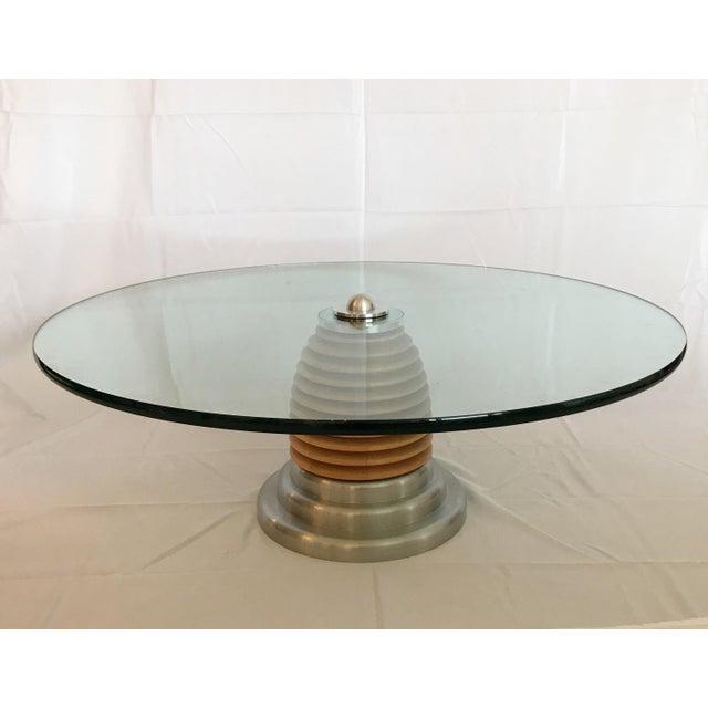 Vintage Mid Century Modern Postmodern J. Wade Beam for Brueton Coffee Table For Sale - Image 9 of 11