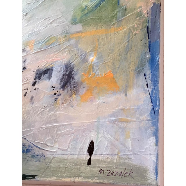Original colorful painting with lots of texture and marks making this painting a great conversation piece. Textured and...