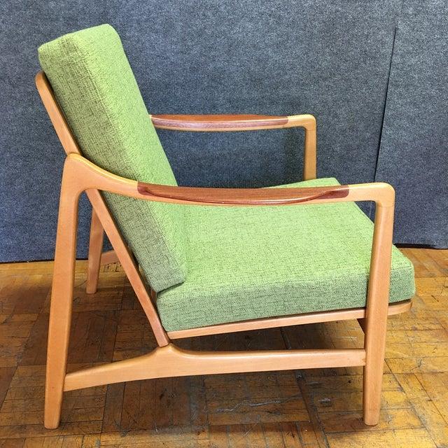 Light Green Mid-Century Modern Armchair - Image 7 of 7