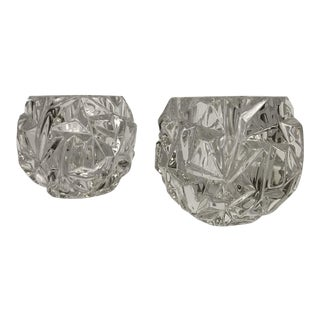 Tiffany & Co. Crystal Votive Candle Holders - a Pair For Sale