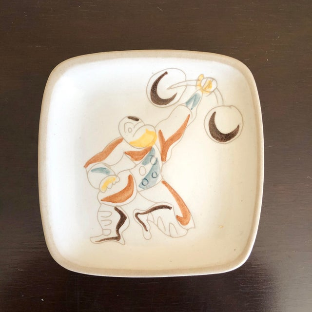Set of six circus theme plates by Glidden Pottery.