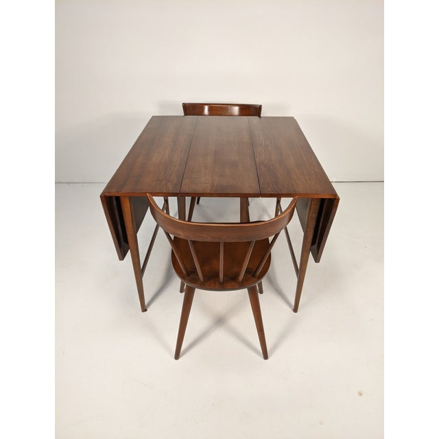 Mid Century Modern Paul McCobb Solid Maple Drop Leaf Dining Set - 7 Pieces For Sale - Image 12 of 13