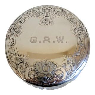 Gorham Sterling Silver Monogrammed Vanity Powder Jar