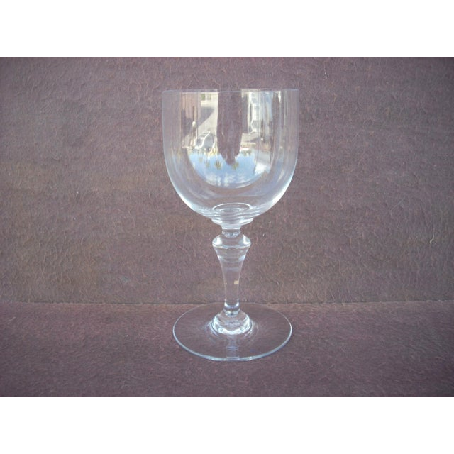 1930s French Baccarat Crystal Red Wine Stem Glass For Sale - Image 5 of 5
