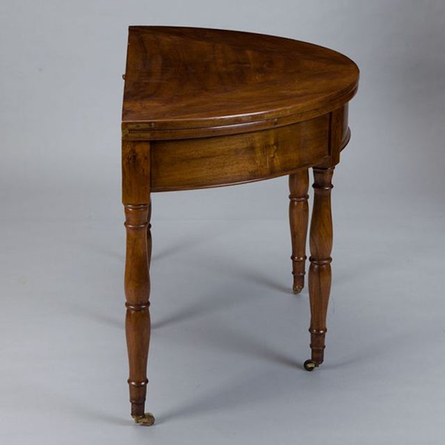 19th Century French Walnut Flip Top Game Table - Image 4 of 7