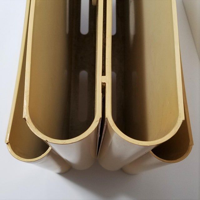Vintage Ivory Giotto Stoppino Magazine Rack for Kartell For Sale - Image 9 of 10