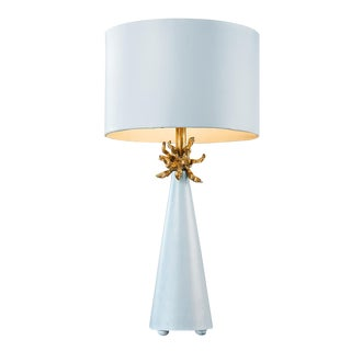 Blue & Gold Cone Table Lamp
