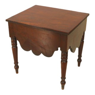 English Georgian Mahogany Bedside Table, C. 1820 For Sale