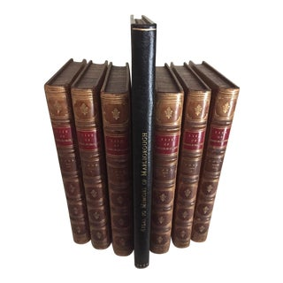 19th C. Atlas and Memoirs of John Duke of Marlborough Books - Complete 7 Volumes For Sale