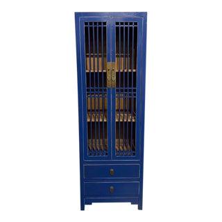 Royal Blue Shanghai Loft Tall Cabinet For Sale