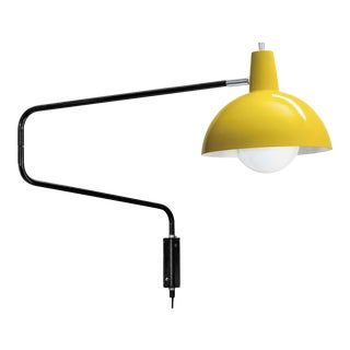 J.J.M. Hoogervorst Model 1702 'Paperclip' Wall Light for Anvia in Yellow For Sale