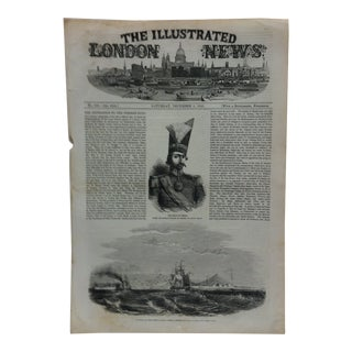 """1856 Antique Illustrated London News """"Bushire on the Persian Gulf"""" Print For Sale"""