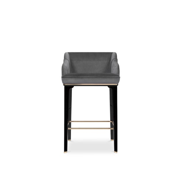 Evoking the old glamour of noir movies, the Saboteur is a classy velvet bar chair for stylish kitchens, bars, bistros or...