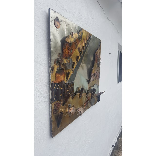 Curtis Jere Style Landscape Abstract Wall Sculpture . - Image 2 of 11