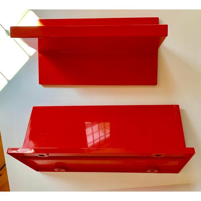 Vintage Kartell Plastic Shelves-a Pair For Sale - Image 10 of 12
