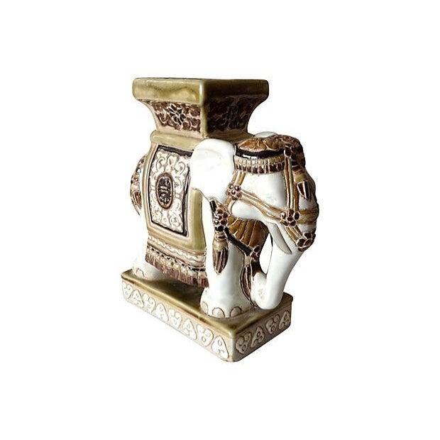 Porcelain Asian-Style Ceramic Elephant - Image 3 of 5