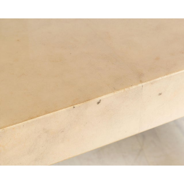 1980s Curved Parchment Console Table For Sale - Image 5 of 8