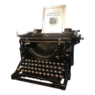 1920's Vintage Underwood Typewriter No. 5 With Original Owner's Manual For Sale