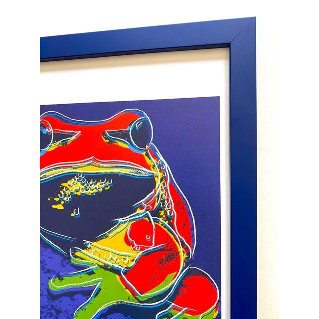 """Andy Warhol Estate Vintage 1989 Endangered Species Framed Lithograph Print """" Pine Barrens Tree Frog """" 1983 For Sale - Image 9 of 13"""