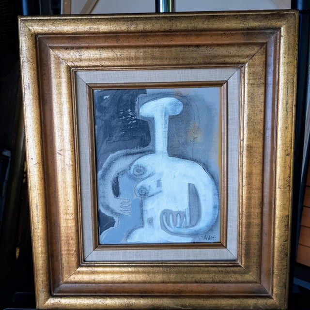Vintage Framed Female Nude #3 Painting For Sale - Image 4 of 4