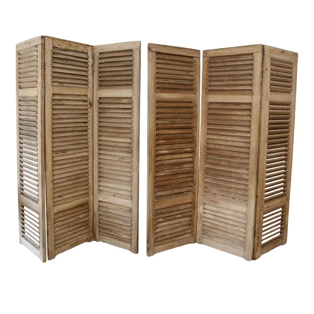 Set of Six Vintage French Shutters For Sale