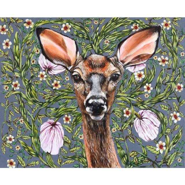 """Deer"" Original Artwork by Naomi Jones For Sale - Image 9 of 9"