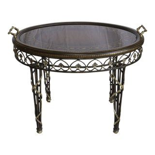 Mid Century Vintage Maitland - Smith Oval Tea Table For Sale