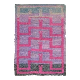 Pink Vintage Turkish Tulu, 3'8'' X 5'1'' For Sale